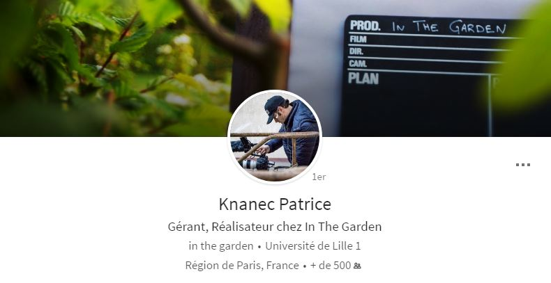 Photo de couverture du profil LinkedIn de Patrice Knanec sur ordinateur